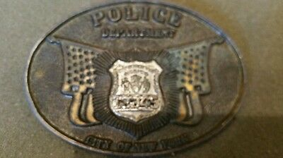 New York City Police Department shield number 13345 official belt buckle badge