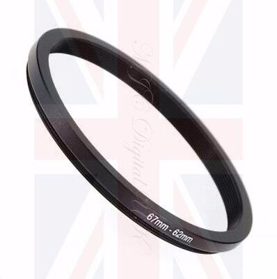 67-62 67mm to 62mm STEPPING STEP DOWN FILTER RING ADAPTER 67mm-62mm 67-62mm