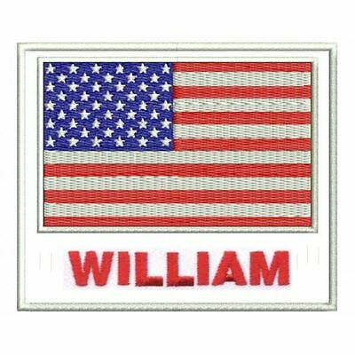 Embroidery patch flag of the word and name or text (Customizable)
