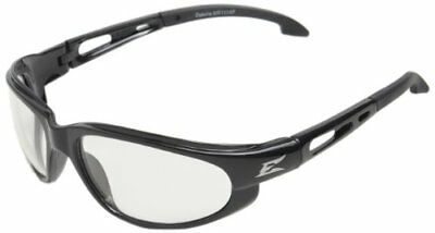 EDGE EYEWEAR - SW111AF Dakura Gloss Black Safety Glasses w/ Anti-Fog Clear Lens