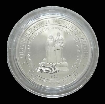 1994 Silver Seychelles 25 Rupees Proof Wedding To The Duke Of York 1923