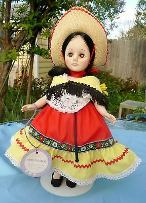 "Vintage 1970s Effanbee 11"" Miss Mexico ""Wonderful World of Dolls"" Series, VGC"