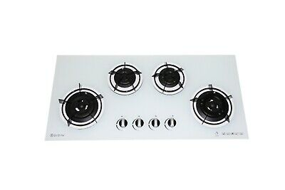 Goldline GL4W White Glass 930mm Gas Cooktop Fits Most Old Cutouts Made in Aust