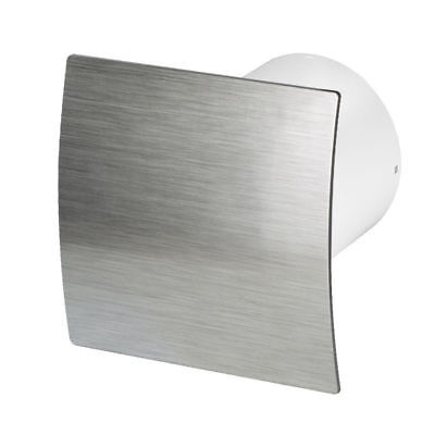 "Bathroom Extractor Fan with Timer 150mm / 6"" Silver Kitchen Ventilator WES150T"