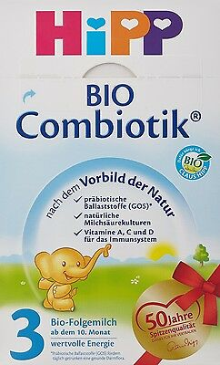 Hipp Organic Combiotik Stage 3 Milk Powder baby formula 600g New from Germany