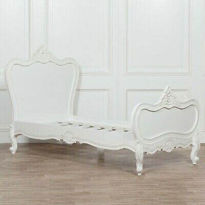 French Chic Chateau Rochelle 3ft Single Hand Carved White Painted Bed *RRP £799*
