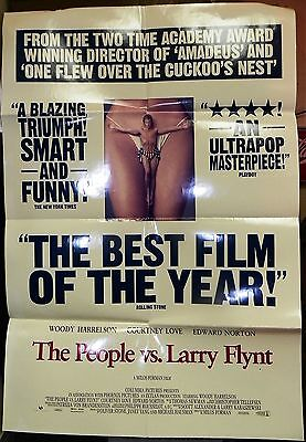 1996 Drama Movie -THE PEOPLE VS. LARRY FLYNT One Sheet Movie Poster
