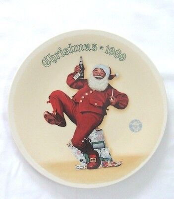 JOLLY OLD ST. NICK 1989 CHRISTMAS PLATE BY NORMAN ROCKWELL BY KNOWLES CHINA