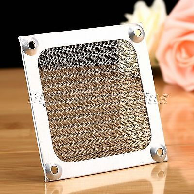 80mm Computer Cooling Fan Dustproof Cover Dust Filter Case Aluminum Grill Guard