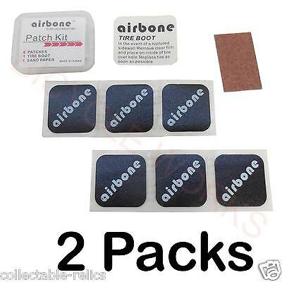 2X 7 Airbone Glueless Patch Kit Stick On Puncture Repair Bike Bicycle Tube Tyre