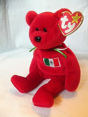 TY Beanie Babies Spain Flag Bear ** OSITO ** 5th Generation New w/ Tag