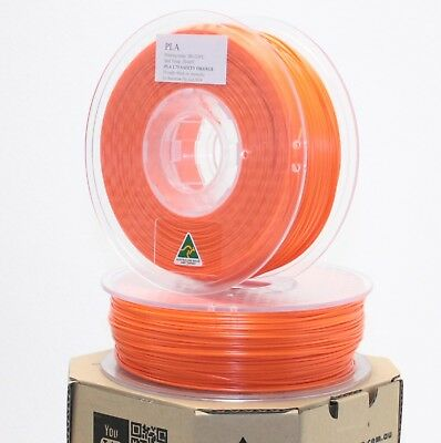 Aurarum 3D printer PLA filament SAFETY ORANGE 1.75 mm made in OZ