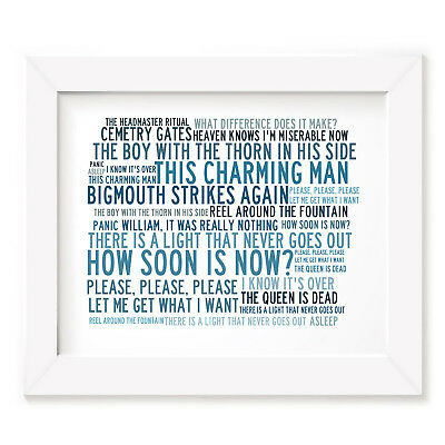 `Crystalline` THE SMITHS Art Print Typography Song Lyrics Signed Numbered Poster