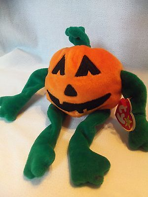 TY Beanie Babies Halloween Pumpkin ** PUMPKIN** 5th Generation New w/ Tag