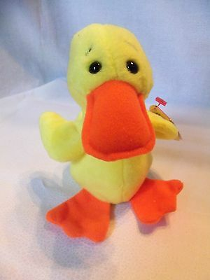 TY Beanie Babies Yellow Duckie ** QUACKERS** 5th Generation New w/ Tag