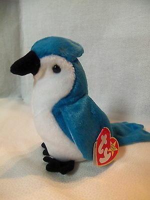 TY Beanie Babies Blue Jay Bird ** ROCKET** 5th Generation New w/ Tag