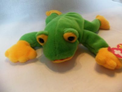 TY Beanie Babies Green Frog ** SMOOCHY ** 5th Generation New w/ Tag
