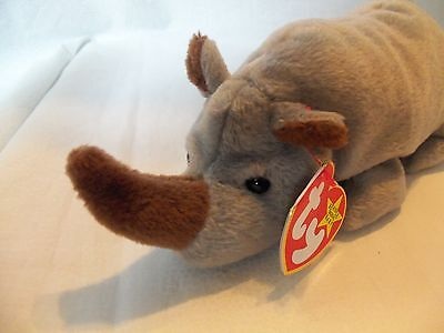 TY Beanie Babies Rhino ** SPIKE ** 5th Generation New w/ Tag