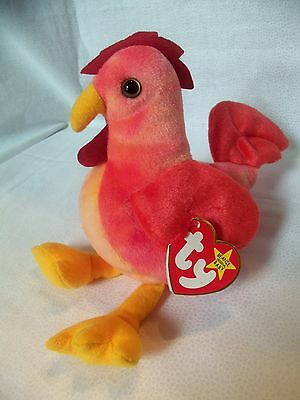 TY Beanie Babies Rooster ** STRUT ** 5th Generation New w/ Tag
