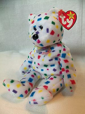 TY Beanie Babies Confetti Bear** TY 2K ** 5th Generation New w/ Tag