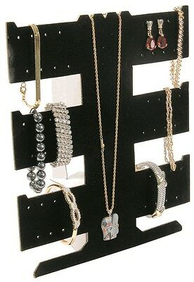 2X Black Flocked cardboard Necklace,Earring, or Bracelet display *2 SETS* (6536)
