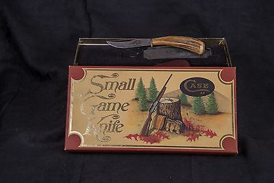 1979 CASE XX SMALL GAME KNIFE WITH STAG HANDLE & SHEATH - 523 31/4SSP
