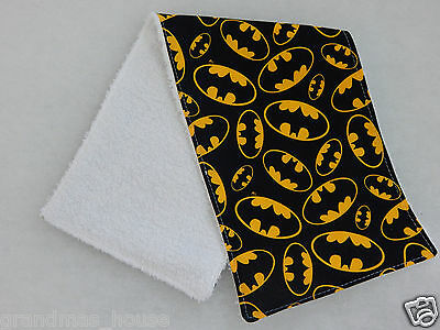 Batman Burp Cloth  - 1 Only Towelling Back GREAT GIFT IDEA!!