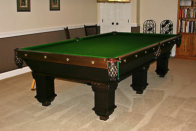 Vintage Burroughes & Watts Billiards/Snooker/Pool Table, 5 x 10, Stamped 1954