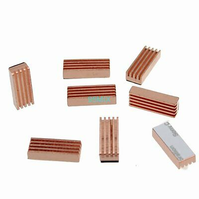 8pcs 22x8x5mm Pure Heatsink Copper Shim Thermal Pads for Laptop GPU CPU VGA