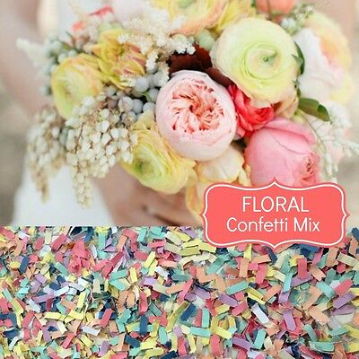 FLORAL Wedding Confetti Biodegradable Paper Table Scatters Beach Wedding Luxe