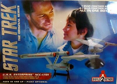 AMT Star Trek U.S.S.Enterprise NCC-1701 /Snap+ Glue Together Kit  Neu OVP