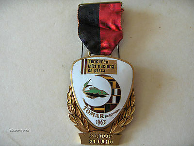 Medaille Medal Concour International De Peche Tomar Portugal 1963
