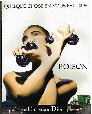 Publicité Advertising 1988 Parfum Poison par Christian Dior