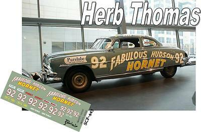 CD_443 #92 Herb Thomas 'Fabulous Hudson Hornet'  1:64 scale decals
