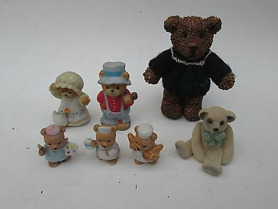 Bear figurine lot Homco Enesco Artist Baker Waitress Backwoods Overalls