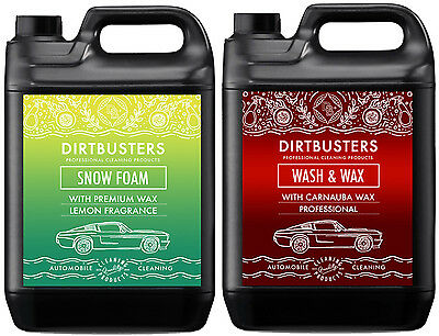Car Candy Snow Foam sherbert lemon shampoo cleaner and wash and wax 2 x 5 litres