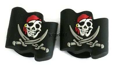 Pirate Flag Jibbitz Croc Shoe Bracelet Wristband Charm Cake Decorations Set of 2