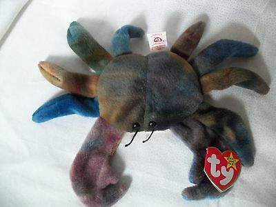 TY Beanie Babies King Crab  ** CLAUDE**  4th Gen New w/ Tag