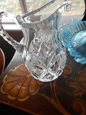 ESTATE CRYSTAL PANCAKE SYRUP ELEGANT BEAUTY. 6.75 INCHES.
