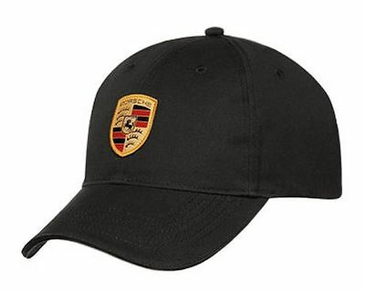 Porsche Selections Baseball Cap with Crest Logo Badge Shield Black Genuine