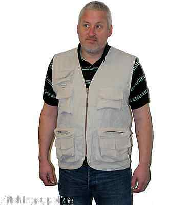 Grandeslam Multi Pocket Fisherman's Waistcoat Fly Fishing Vest - Size M,l,xl,xxl