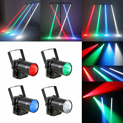 (4 PACK )3W LED Beam Spotlight Party Stage Disco Pub Lighting Light (4 Colors)
