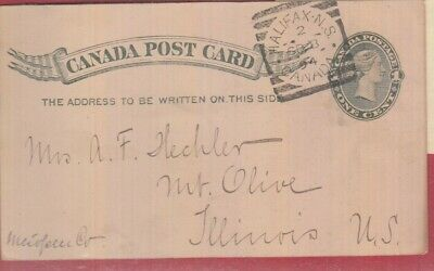 HECHLER pc Halifax N.S. Squared Circle post card Canada 1894 nice strike