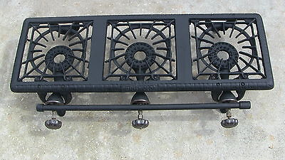 Cast Iron Griswold Manufactoring Co. Erie Three Burner Gas Grill Top