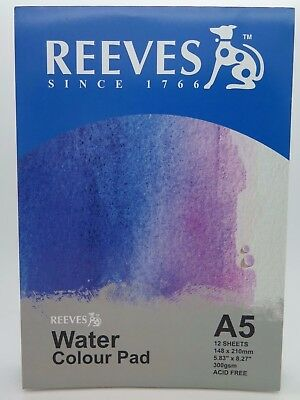 Reeves A5 Water Colour Paper Pads 24P 300gsm (Acid Free) - 0312390* BRAND NEW
