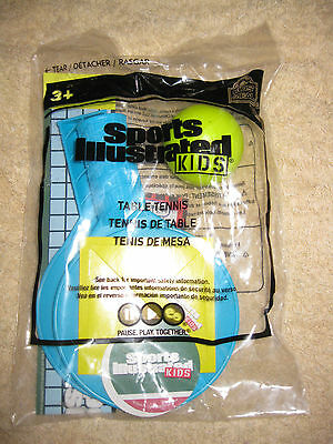 Sports Illustrated Kids Wendy's Kids Meal Table Tennis  ****BRAND NEW*****
