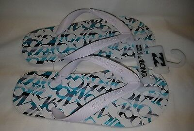 Kids Girls Boys Unisex Billabong Flip Flops Bnwt