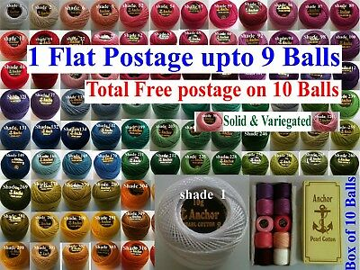 1 ANCHOR Pearl Cotton Crochet Embroidery Thread Ball. 1 Flat / Free Postage.220+