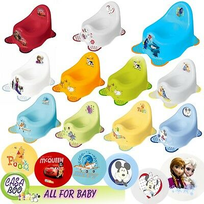 BABY CHILDRENS Steady Potty Toilet training ANTI-SLIP Disney CARS, FROZEN, HIPPO