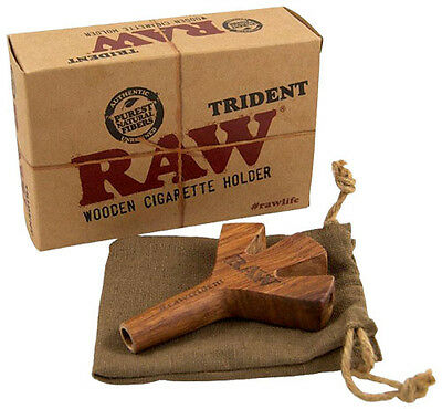 "RAW® ""TRIDENT"" Wooden Cigarette Holder (Zigarettenhalter)"